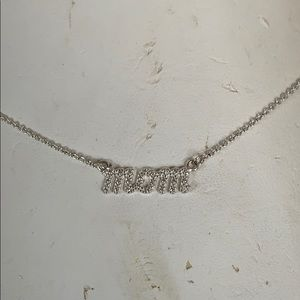"""Sterling """"mom"""" necklace"""